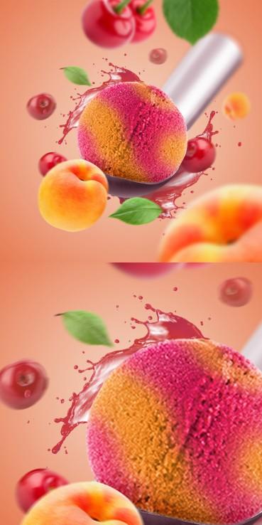 Apricot & cherry sorbet