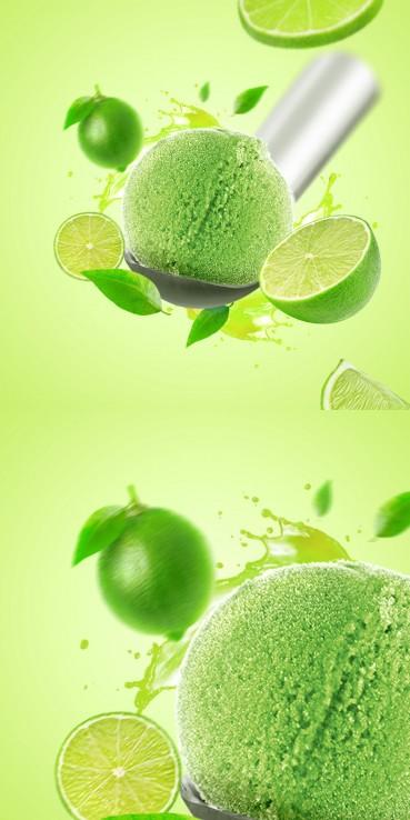 Lime sorbet