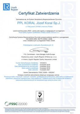 FSSC 0062547 Limanowa (PL)