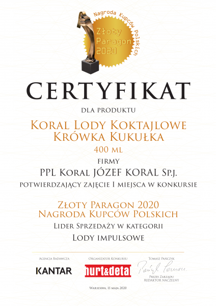 veneo_koral_aktualnosci_certyfikat_20200518